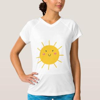 Designers tshirt with Yellow sun