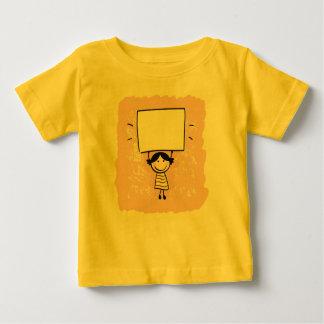 Designers tshirt yellow with Doodle girl