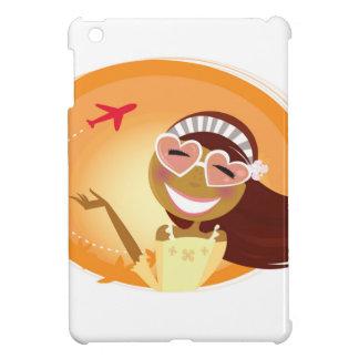 Designers vintage illustration with travel Girl iPad Mini Cover