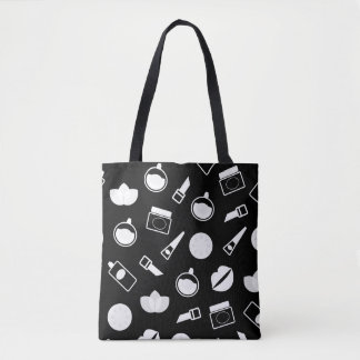 Designers vintage tote Bag with cosmetics