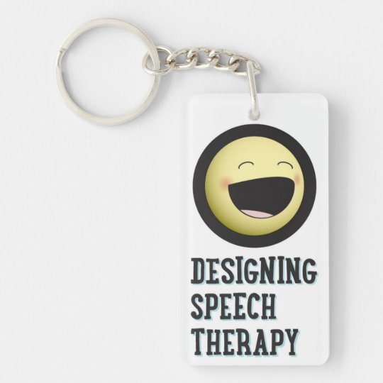 Designing Speech Therapy 2-sided Keychain