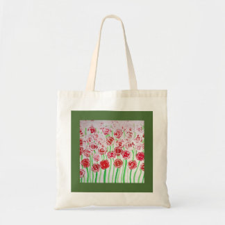 Designs abstract flourishing alder budget tote bag