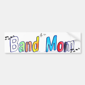 Designs By Gina Band Mom Bumper Sticker