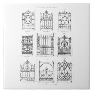 Designs for cast-iron gates, from 'Macfarlane's Ca Ceramic Tiles