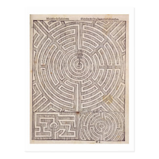 Designs for mazes, from 'The Dutch Gardener' by Jo Postcard