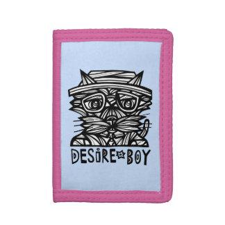 """""""Desire Boy"""" TriFold Nylon Wallet"""