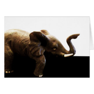 'Desk Elephant' Blank Card