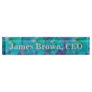 Desk Name Plate Art Floral Design