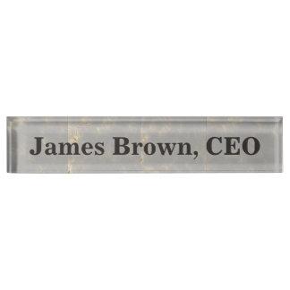 Desk Name Plate Foil Design
