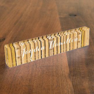 Desk Nameplate - HAMbyWhiteGlove - Large Bamboo