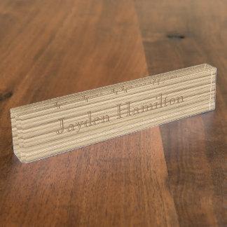 Desk Nameplate - HAMbyWhiteGlove - Natural