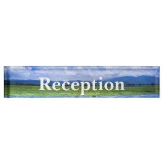 Desk Nameplate - HAMbyWhiteGlove - Reception