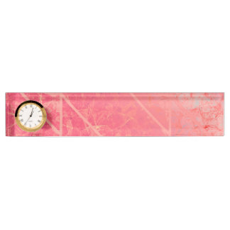 Desk Nameplate Pink Marble Texture