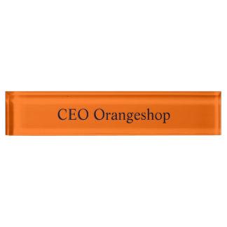 Desk nameplate uni Orange