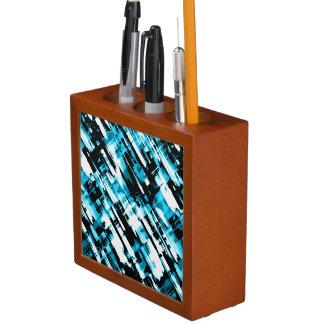 Desk Organizer Blue Black abstract digitalart G253