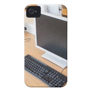 Desktop computer in computer class on school iPhone 4 cases