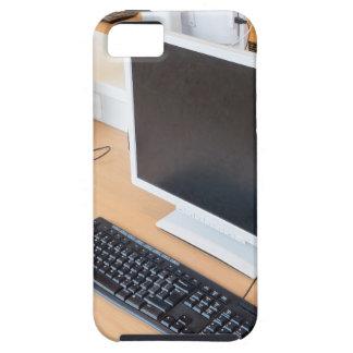 Desktop computer in computer class on school iPhone 5 covers