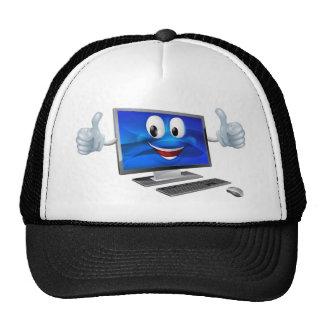 Desktop computer mascot hat