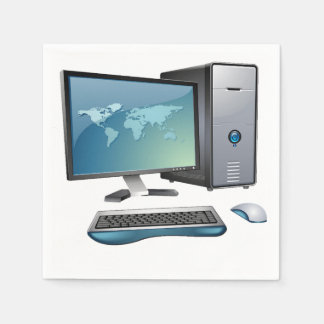 Desktop Computer Paper Napkins