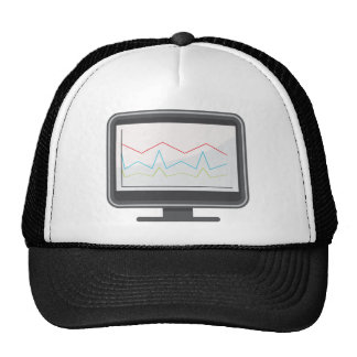 Desktop Monitor Financial Report Icon Trucker Hat