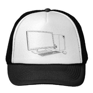 Desktop PC computer workstation Hats