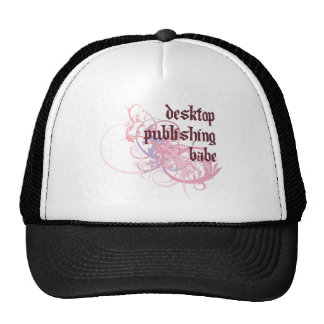 Desktop Publishing Babe Trucker Hat