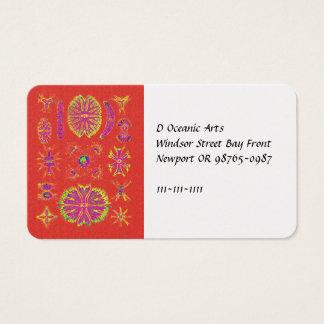 Desmidiea on Burnt Orange Business Card