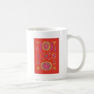 Desmidiea on Burnt Orange Coffee Mug