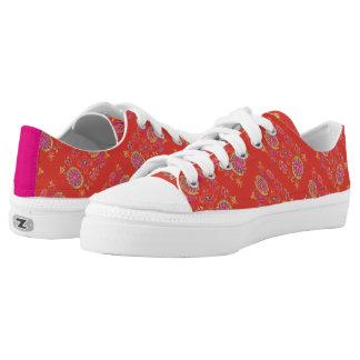 Desmidiea on Burnt Orange Low-Top Sneakers