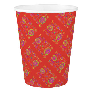 Desmidiea on Burnt Orange Paper Cup
