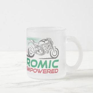 Desmodromic Empowered - 10 oz Frosted Glass Mug