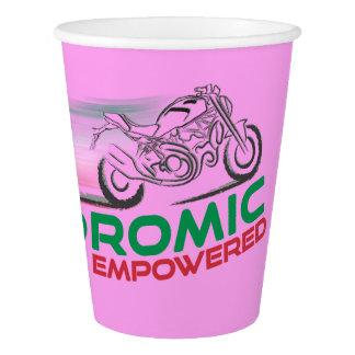 Desmodromic Empowered - Pink 9 oz Paper Cup