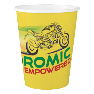 Desmodromic Empowered -  Yellow 9 oz Paper Cup