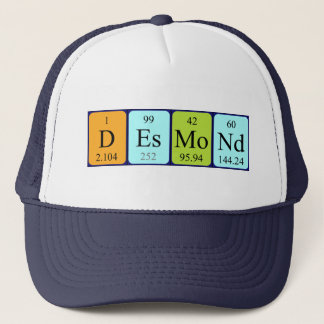 Desmond periodic table name hat