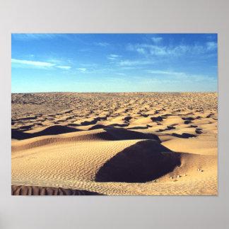 Desolate desert poster