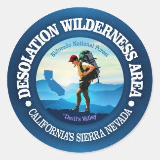 Desolation Wilderness (Hiker C) Classic Round Sticker