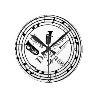 DeSoto Low Brass Round Clock