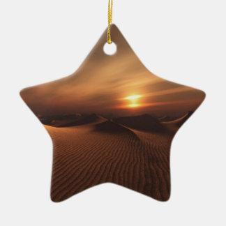 Desrt Rain Ceramic Ornament