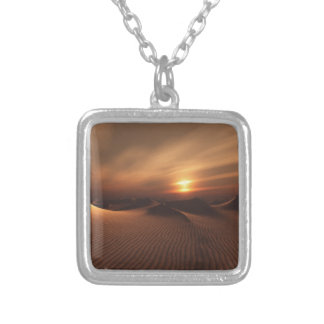 Desrt Rain Silver Plated Necklace