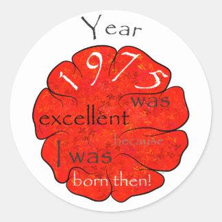 Dessalinia - Year 1975 Classic Round Sticker