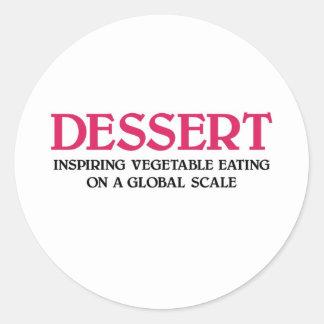 Dessert and Vegetables (pink edition) Sticker
