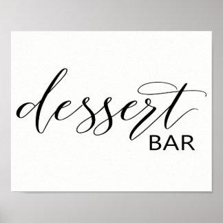 Dessert Bar Wedding Print