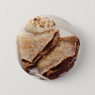Dessert Crepes 2 Inch Round Button