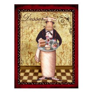 Dessert de chef cartes postales