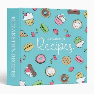 Dessert Doodles | Baked Goods Recipes 3 Ring Binder