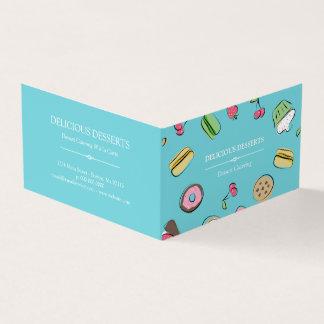 Dessert Doodles - Blue Catering Business Card