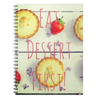 ''''Dessert First' vintage' vintage photo notebook