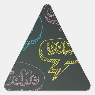 Dessert Message Board Blackboard Chalk Triangle Sticker