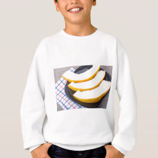 Dessert of sweet yellow melon slices sweatshirt