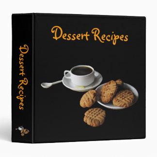 Dessert Recipes 3 Ring Binder